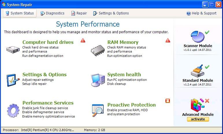 Fake System Repair