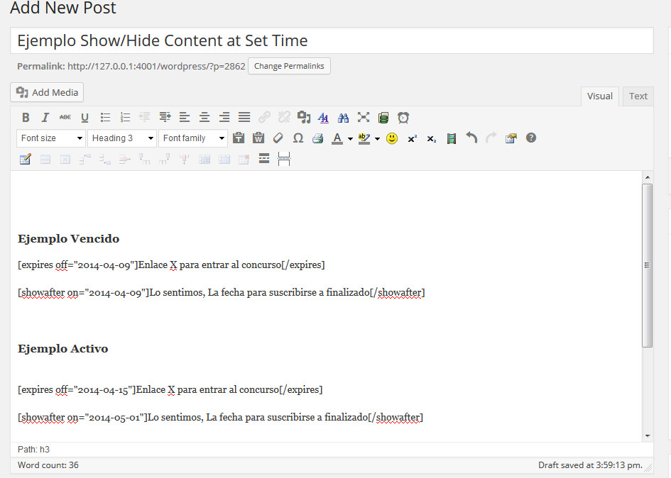 Show-Hide Content at Set Time (2)